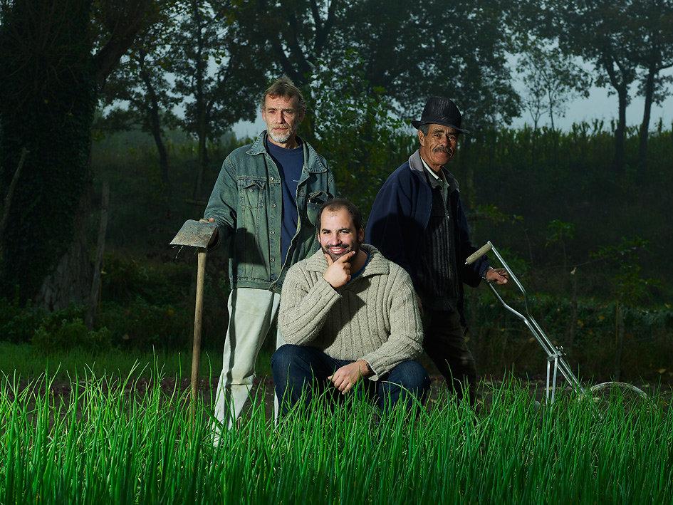 Pau Santamaria and the crew